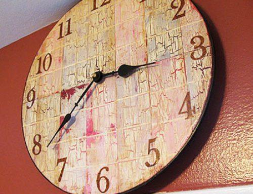 Декупаж часов с одношаговым кракелюром: 3 нестандартных идеи в одном мастер классе
