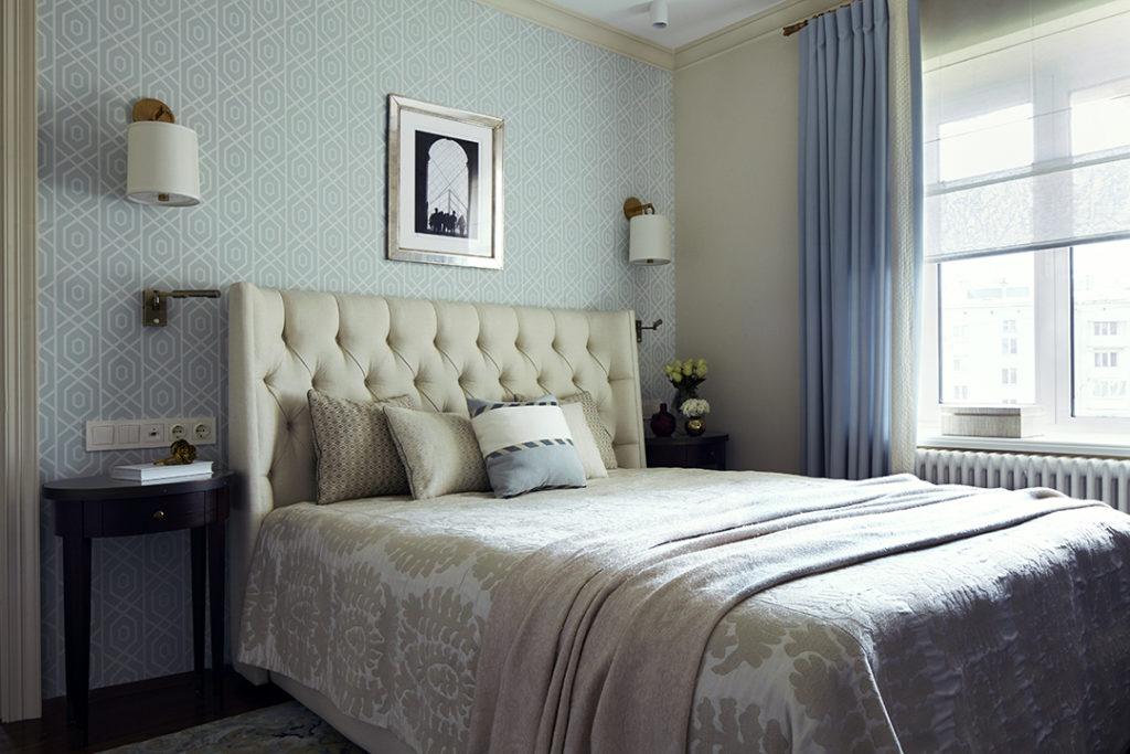 Спальня пастельный интерьер