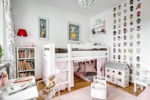 детская комната в пастельных цветах